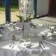 Décoration de table pour un mariage tout en blanc