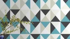 papier-peint-intisse-polygone-bleu