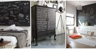 La peinture à tableau noir: une décoration pratique et design