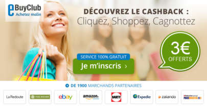 eBuyClub.com, un site spécialisé dans le Cashback